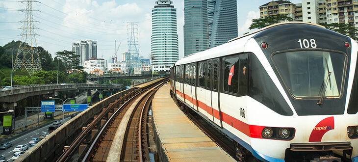 LRT, KTM and monorail train systems