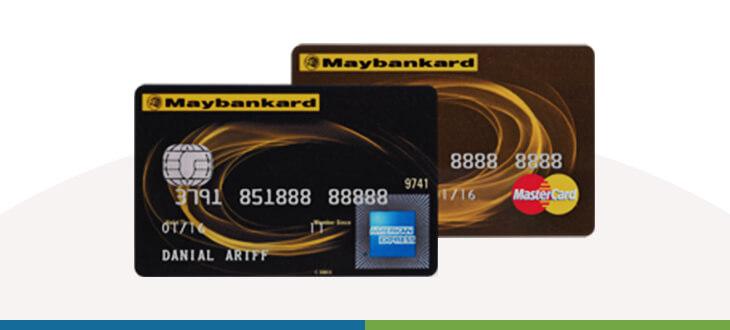 Maybank 2 Cards Gold Amex and MasterCard credit card