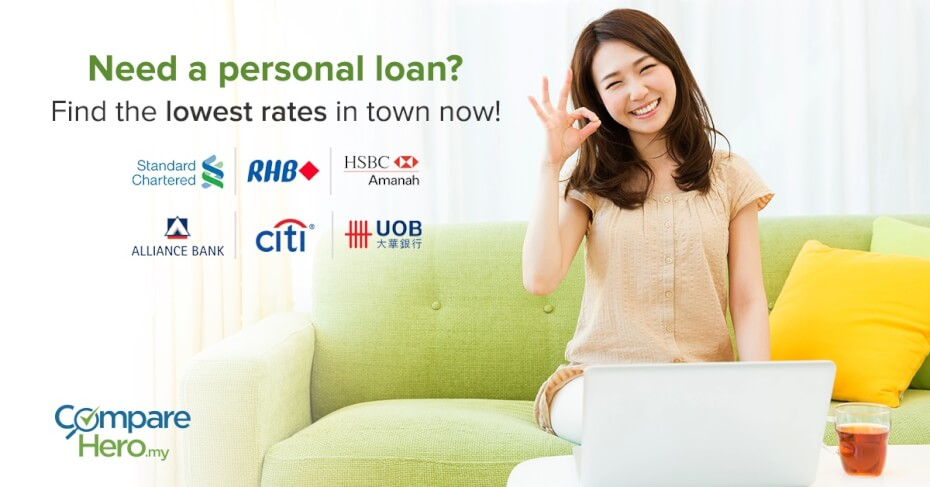 find the lowest rates personal loans at comparehero.my