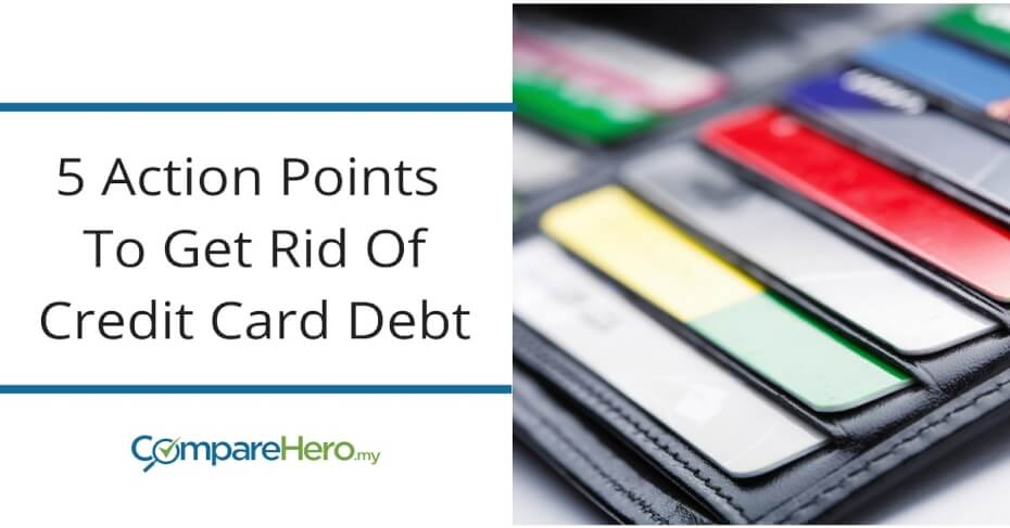 5 ways to get rid of your credit card debt