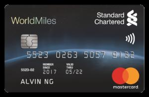 standard chartered world miles mastercard credit card