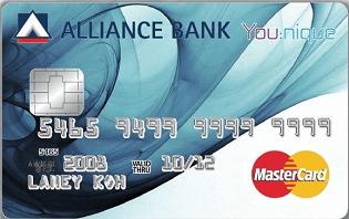 Alliance Bank You:nique MasterCard