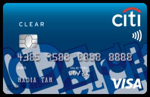 citi clear card visa credit card