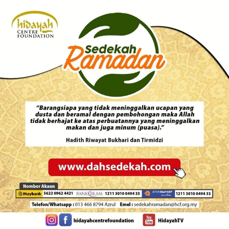 sedekah-ramadan-hidayah-centre-foundation